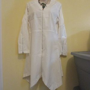 NWT - ZOEY white top/jacket - sz M - MSRP $175.00